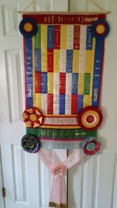 Ribbon quilt